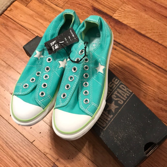 Womens Converse One Star Turquoise Slip